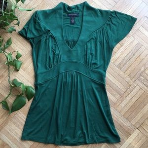 Banana republic unique green dressy top